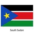 Flag of the country south sudan vector image vector image