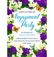 flowers card for engagement party vector image