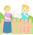 good relationship of senior neighbor vector image vector image