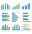 graphs and charts vector image