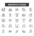 growth line icons for web and mobile design vector image vector image