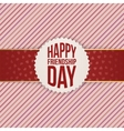 Happy Friendship Day realistic Badge on red Ribbon vector image vector image