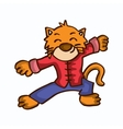 happy tiger cartoon funny stock collection vector image