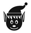 head elfin icon simple style vector image vector image