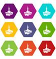 health eco food icons set 9 vector image