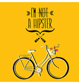 Hipster bicycle vector image vector image