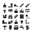 home renovation icons vector image vector image