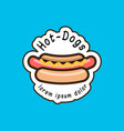hot dog logotype template vector image vector image