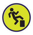 image of the warning sign vector image