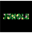 jungle logo to print t shirts vector image