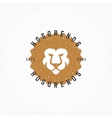 Lion head Hand Drawn Design Element in Vintage vector image vector image