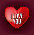 love you lettering heart template valentines day vector image