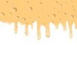 Melted cheese texture with holes space for your vector image vector image