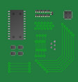 micro chip collection chipset vector image