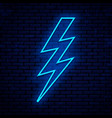 neon sign lightning vector image