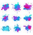 paint splash colors fluo vector image vector image