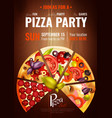 party hours pizza poster vector image