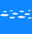 pixel art game background with blue sky and clouds vector image