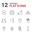 point icons vector image vector image