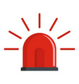 police siren icon flat style vector image vector image