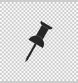 push pin icon isolated thumbtacks sign vector image