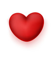 realistic heart icon vector image vector image