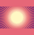 red sun pop art background vector image