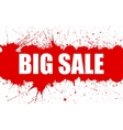 Sale Banner With Bright Ink Red Blots vector image