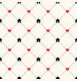 seamless geometric pattern with house icons vector image