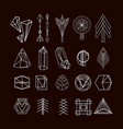 set of minimal geometric shapes vector image