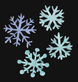 set of watercolor snowflakes snowflakes and ice vector image vector image