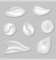 set white cream vector image