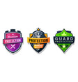 shield protection icons security safety signs set vector image vector image