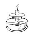 sketch of spirit lamp chemical burner vector image