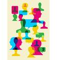 social interaction symbols vector image