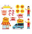 Steak Shop Graphic Elements vector image vector image