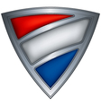 steel shield with flag netherlands vector image