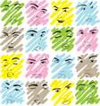 texture faces of women vector image vector image