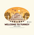 turkey travel poster vector image vector image
