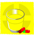 water and capsules vector image vector image