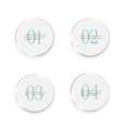 White buttons number options banners vector image