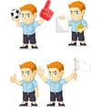 Red Head Boy Customizable Mascot vector image