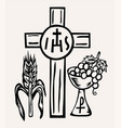 ihs jesus icon and symbol vector image