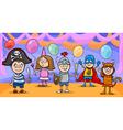 children at fancy ball cartoon vector image
