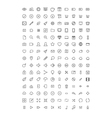 150 Thin Line Icons vector image vector image