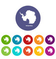 antarctica map icon simple style vector image