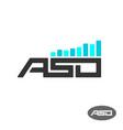 aso letters logo app store optimisation vector image