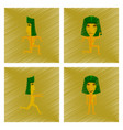 assembly flat shading style icon mummy halloween vector image vector image