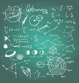 astronomic drawings on a chalkboard vector image