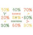 autumn sale leaves pattern vector image